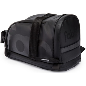 Fabric Contain Saddle Bag L black